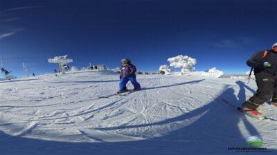 Cómo aprender a esquiar en la nieve con niños